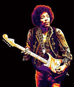 efsane gitarist Jimi Hendrix